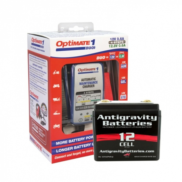 AG1201 Battery & Optimate Duo1 Lithium Charger