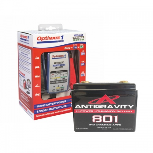 AG801 Battery & Optimate Duo1 Lithium Charger