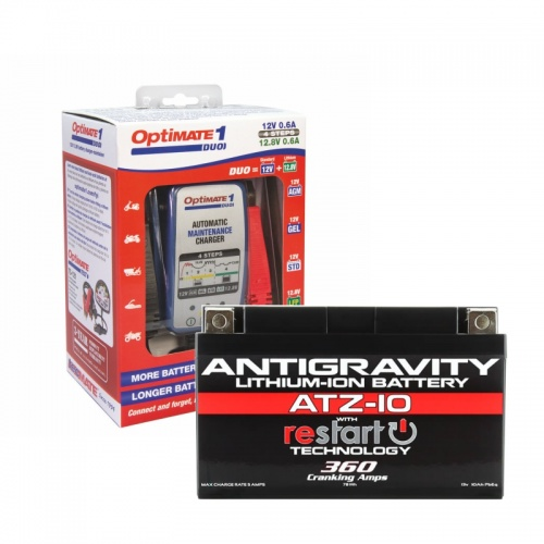 ATZ-10 Restart Battery & Optimate Duo1 Lithium charger