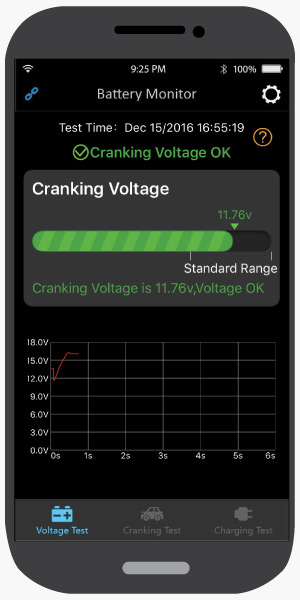 Cranking Test, Antigravity Battery Tracker Bluetooth App