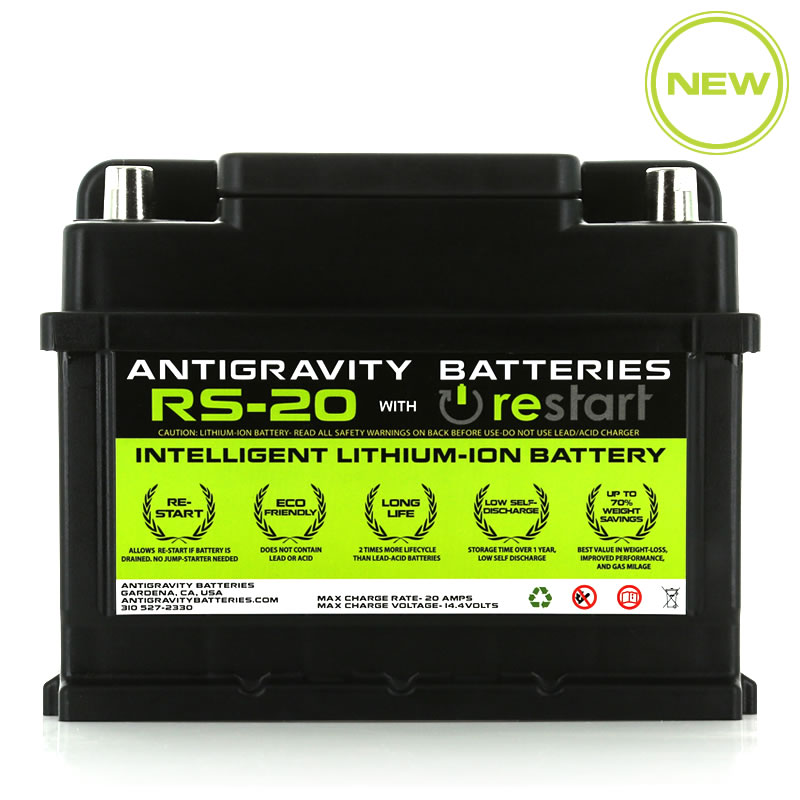 Lithium Ion Car Battery >> Antigravity Rs 20 Car Battery